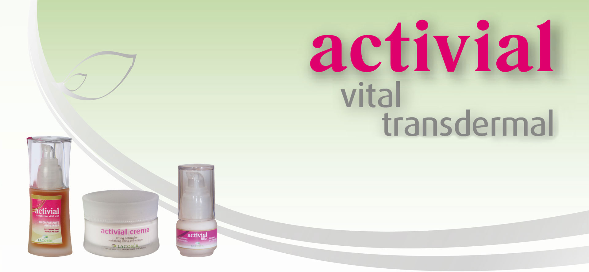 ACTIVIAL vital transdermal face and body develops a restructuring, compacting, reparing and anti-stress action