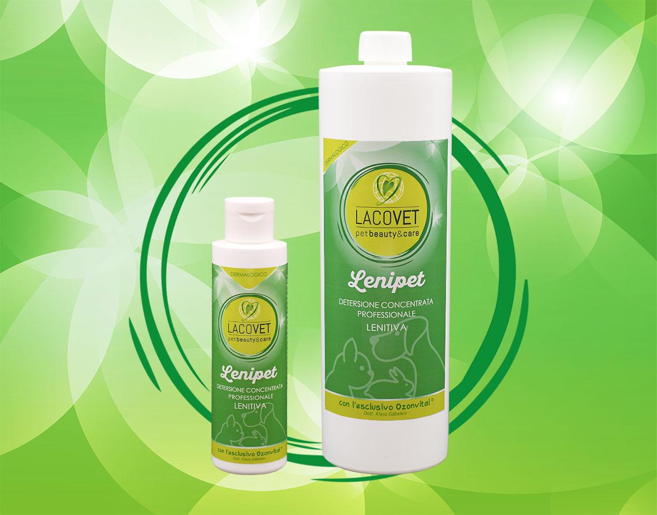 LENIPET detersione concentrata professionale lenitiva - LACOVET pet beauty&care