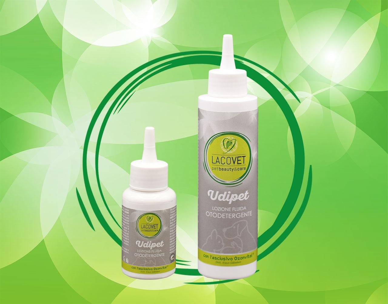 UDIPET lozione fluida otodetergente - LACOVET pet beauty&care